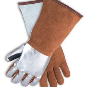 镀铝皮革焊接隔热手套